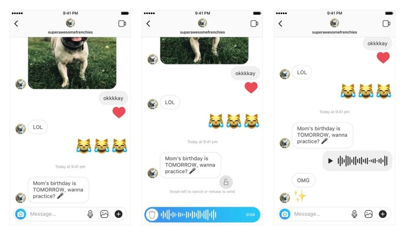 Voice Messages in Instagram Direct