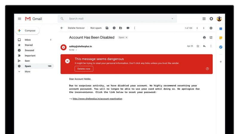 New Gmail Security Warning