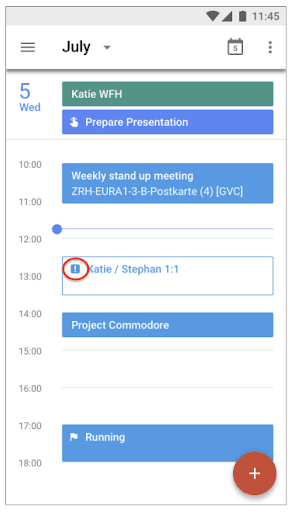 Google Calendar Event Visual indication showing everyone declined a meeting
