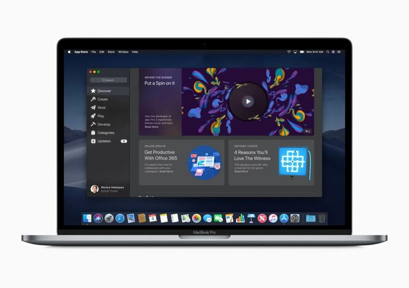 New Mac App Store in macOS Mojave
