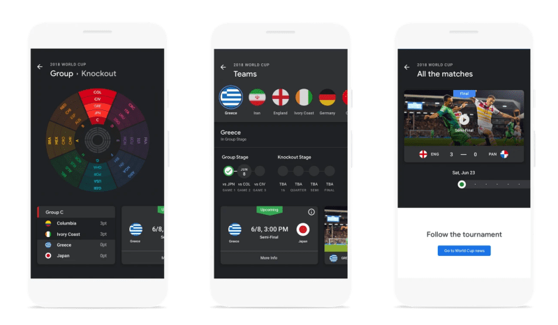 World Cup Tracker on your Google News app on Android