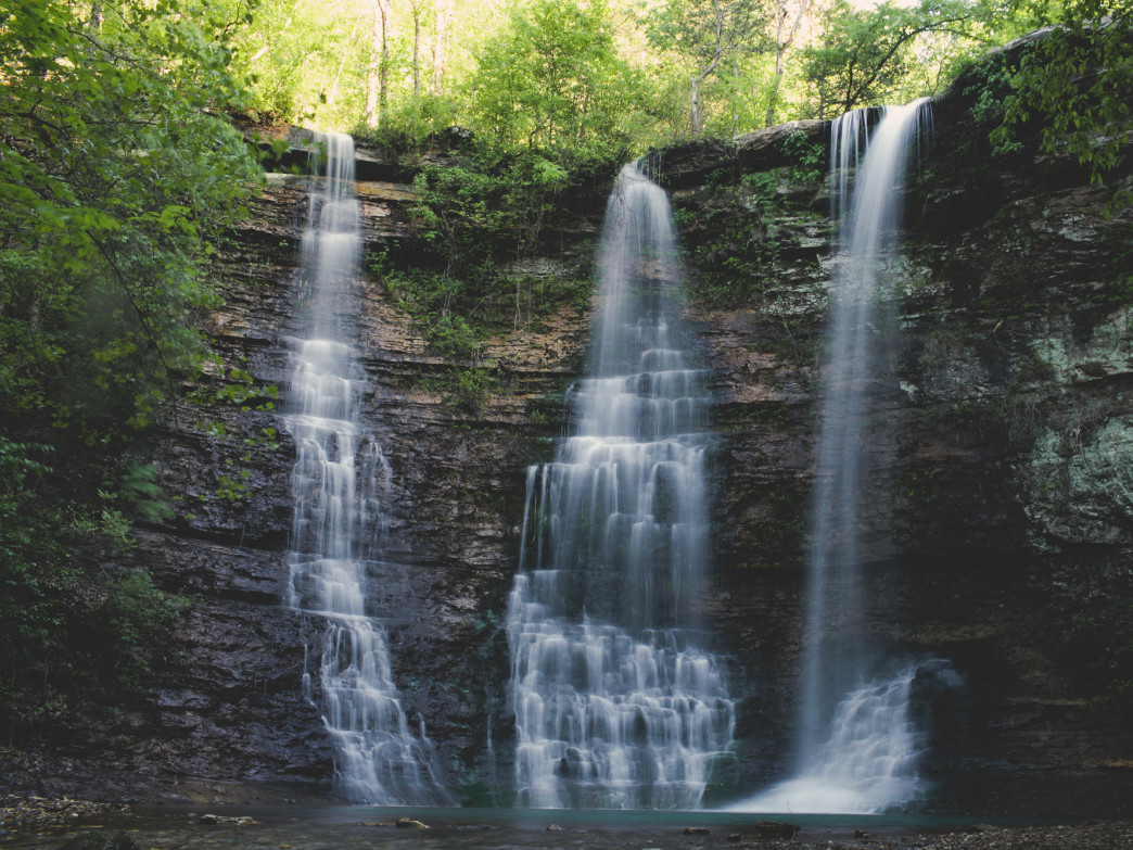 After a good rain, the Triple Falls are a spectacular sight to see.