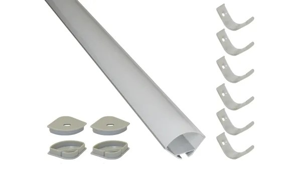powerled led strip extrusion diffuser ext for cove lighting shelve lighting skirting board lighting under cabinet