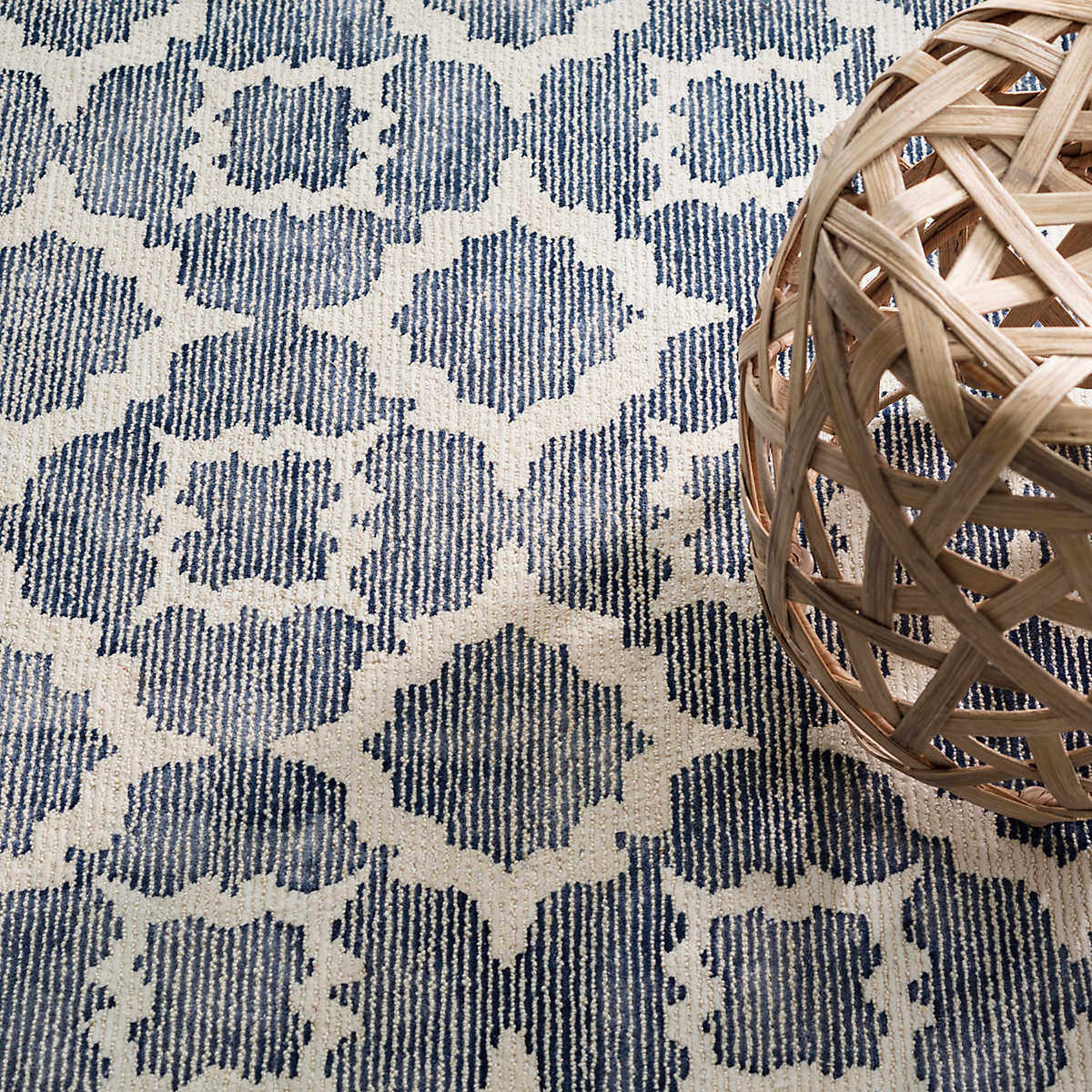 Dash And Albert China Knotted Blue Rug Studio