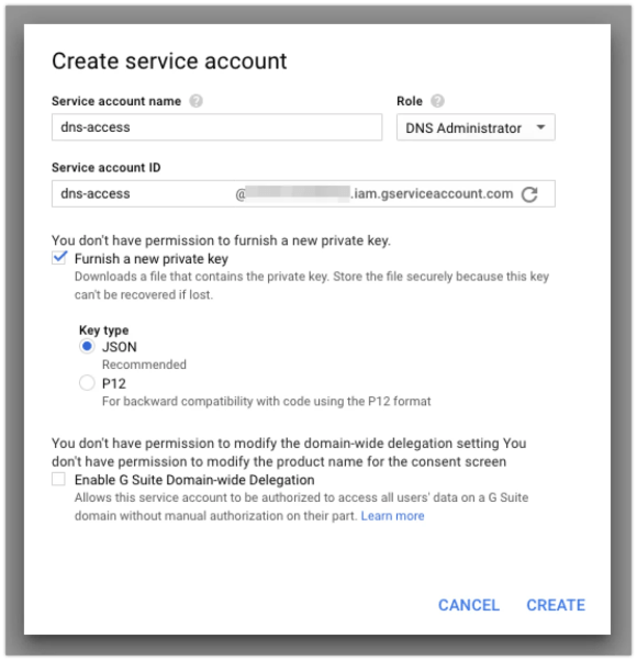 Create Your Service Account