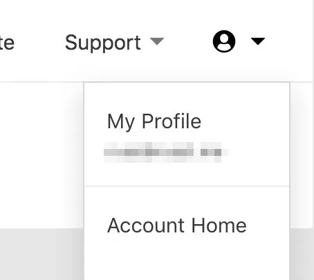 'My Profile' link on Cloudflare
