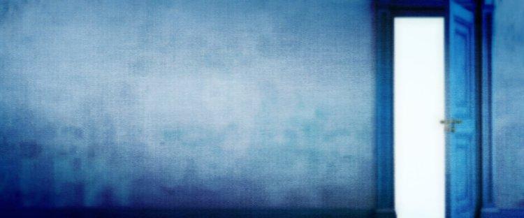 Blurry Blue Door