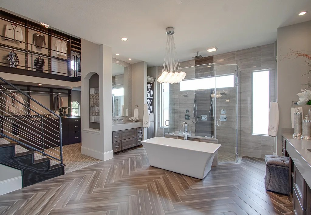 Is This the Prettiest Model Home in America? | Houstonia on Bathroom Model Design  id=65113