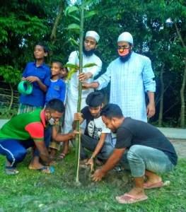মুক্তাগাছায় শশা খামারের বাজার সমাজ কল্যাণ সংস্থা'র বৃক্ষরোপণ অভিযানের উদ্বোধন