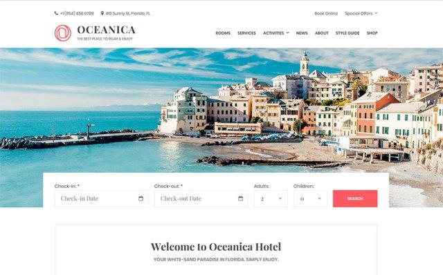 Oceanica - Hotel Booking WordPress Theme