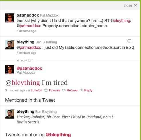 New Twitter conversation view.