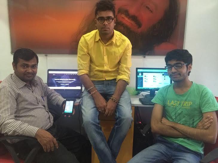 Ramkant Yadav, Developer (Left), Hitesh, Founder (Centre), Vinay Thakar Developer (Right)