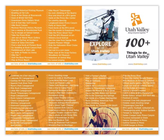 List of 100+ things to do in Utah Valley