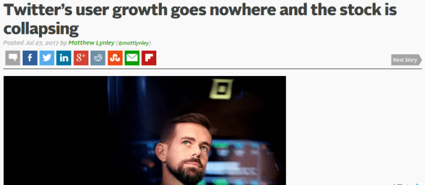 Twitter Slow User Growth
