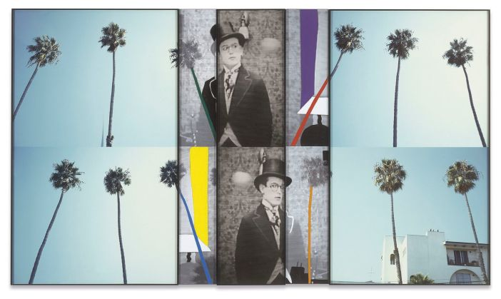 Overlap Series: Various Palm Trees (with spectator and floating object), 2001