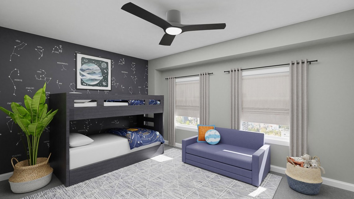 Shared Bedroom Ideas How To Decorate A Shared Kids Bedroom Spacejoy
