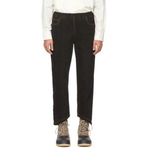 St-Henri SSENSE Exclusive Black Rock Elastic Jeans
