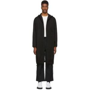 Y-3 Black Hooded Long Shirt
