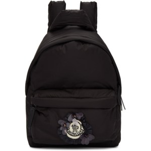 Moncler Genius 4 Moncler Simone Rocha Black Ruffle Logo Backpack