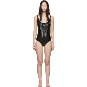 Lisa Marie Fernandez Black PVC Jasmine One-Piece Swimsuit