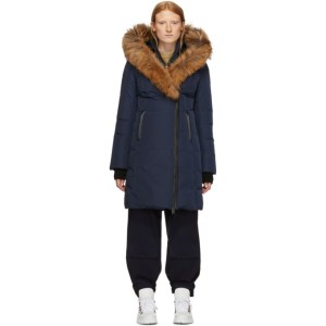 Mackage Navy Down and Fur Classic Kay Parka