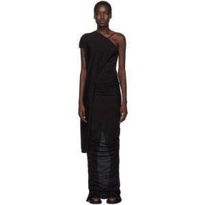 Rick Owens Lilies Black Single-Shoulder Gown