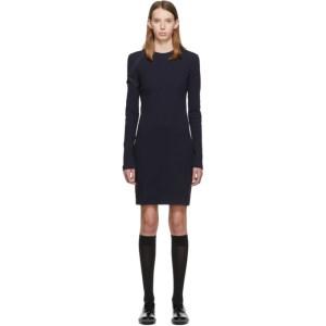 Helmut Lang Navy Crepe Harness Short Dress