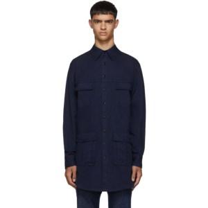 Random Identities Blue Saharienne Shirt Jacket