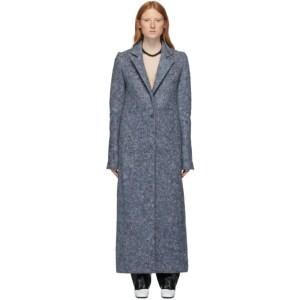 Marina Moscone Blue U-Haul Blanket Coat