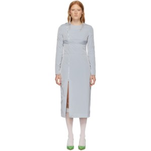 Supriya Lele Grey Taffeta Utility Dress