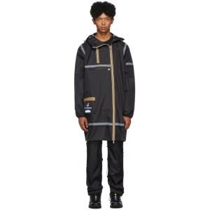 Afterhomework Black K-Way Edition Eiffel Multi Pocket Raincoat