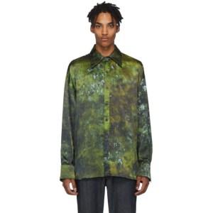 S.R. STUDIO. LA. CA. Green SOTO Hand-Dyed Silk Shirt