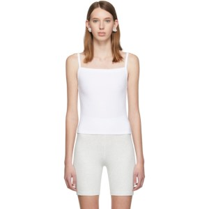 Gil Rodriguez White Lapointe Square Neck Tank Top