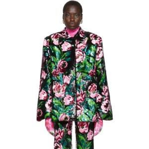 Richard Quinn Black Floral Embellished Jacket