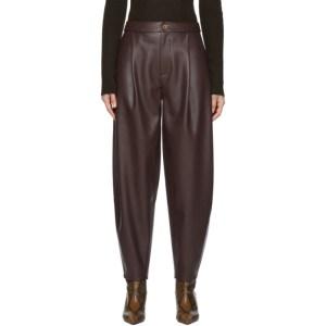 Aeron Purple Faux-Leather Fran Trousers