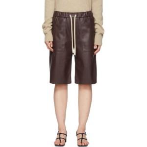 Aeron Purple Faux-Leather Bari Shorts