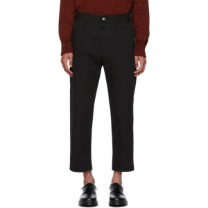 AMI Alexandre Mattiussi Black Worker Trousers