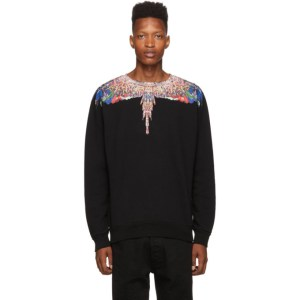 Marcelo Burlon County of Milan Black Wings Sweatshirt