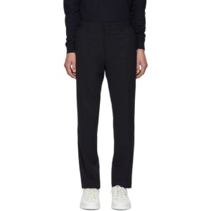 Fendi Navy Wool FF Trousers