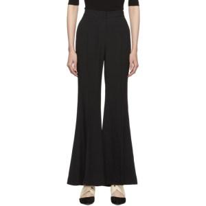 Rosetta Getty Black Straight Flare Trousers