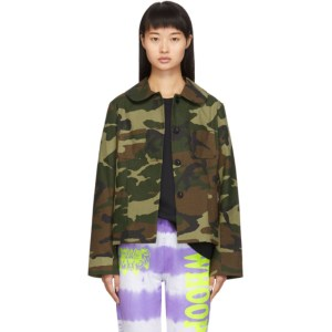 Ashley Williams SSENSE Exclusive Brown and Green Camo Jacket