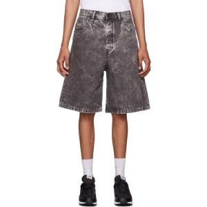 Diesel Grey Denim D-Bron Shorts