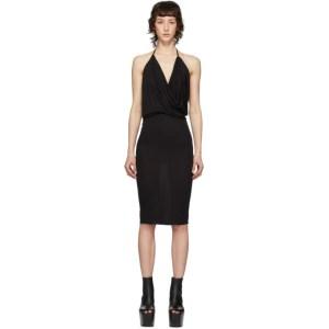 Rick Owens Lilies Black Heavy Jersey Tank Dress