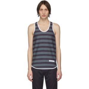 Daniel W. Fletcher Grey Woolmark Collection Striped Vest