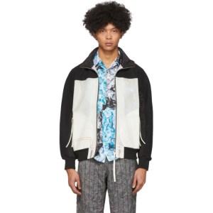 Kanghyuk SSENSE Exclusive White and Black Readymade Airbag Rib Jacket