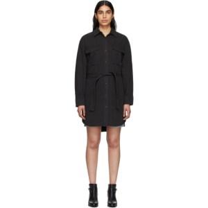 rag and bone Black Denim Shirt Dress