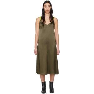 rag and bone Grey Silk Colette Slip Dress