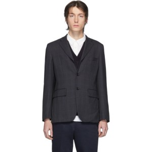 Comme des Garcons Homme Deux Grey Wool Check Blazer