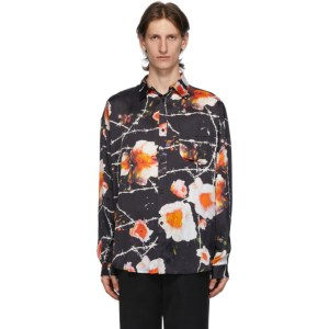Stolen Girlfriends Club Black and Multicolor Floral Over Shirt