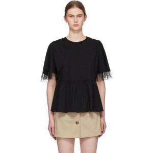 RED Valentino Black Tiered T-Shirt